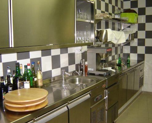Office de la cuisine. Restaurant 2 étoiles Le Parc, Franck Putelat, à Carcassonne. Réalisation Fidec, cuisiniste et frigoriste professionnel.